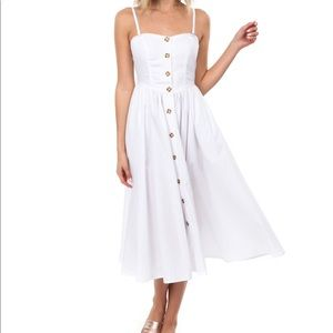 FREE PEOPLE poplin white midi dress white Small